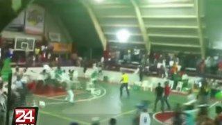 Juego de básquet terminó en terrible batalla campal en República Dominicana