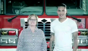 Nancy Lange y Paolo Guerrero se unen en campaña a favor de los bomberos