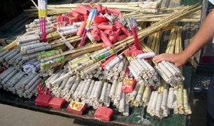 Decomisan más de 200 kilos de pirotécnicos en La Victoria