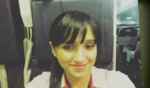 Aeromoza sobreviviente al accidente en Colombia es novia de piloto peruano