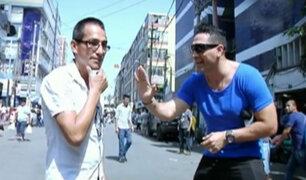 El reto del 'maniquí combinado' llegó a las calles de Lima