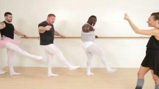 VIDEO: Fisicoculturistas aceptan reto y bailan ballet