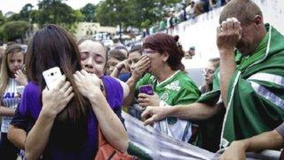 Brasil: llanto y dolor en familiares y aficionados del Chapecoense