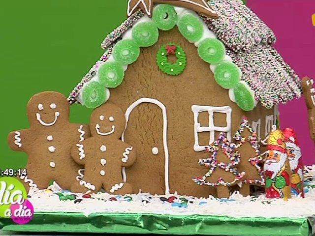 Aprende a hacer una casa navideña de galleta de jengibre
