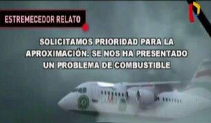 Difunden audio entre torre de control y piloto del avión del Chapecoense