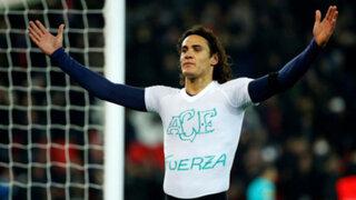 La tarjeta más cruel: Cavani dedica gol al Chapecoense... y le sacan amarilla