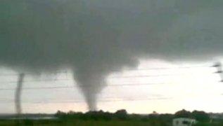 Tornado arrasó campos agrícolas en España