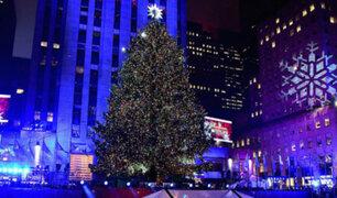 VIDEO: se inicia temporada navideña en Estados Unidos
