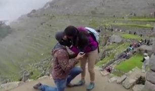 Cusco: propuesta de matrimonio en Machu Picchu se hace viral