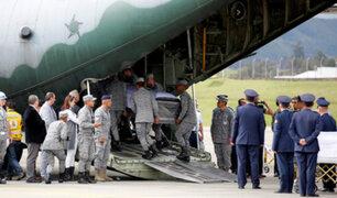 Chapecoense: aviones con restos de los fallecidos llegan a Manaos