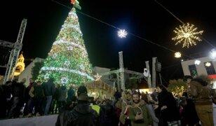 Encienden el tradicional árbol de Navidad en Belén