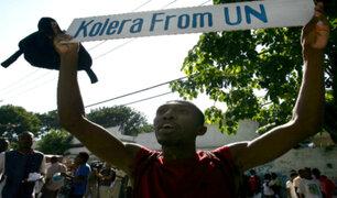 ONU se disculpa por el brote de cólera en Haití