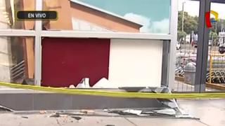 Surco: delincuentes intentan robar cajero automático en supermercado