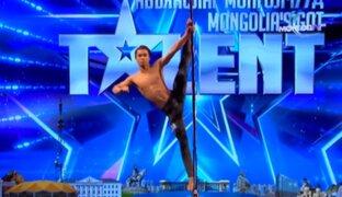Mongolia: joven arrasa en programa de talentos con coreografía de pole dance