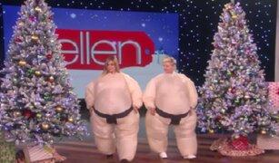 Jennifer Aniston y Ellen DeGeneres se volvieron 'sumos'