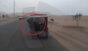 WhatsApp: mototaxista expone al peligro a perro en transitada vía