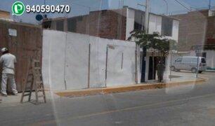 WhatsApp: vecino ocupa vereda durante construcción de vivienda en Chorrillos