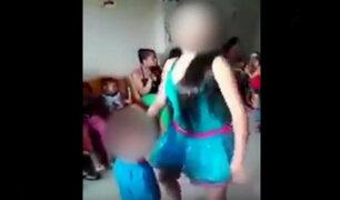 Niños de 3 años son obligados a bailar reggaetón en fiesta infantil