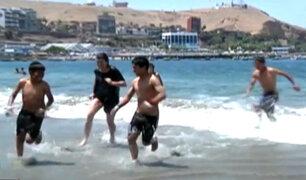 Niños cusqueños reaccionaron así tras conocer por primera vez el mar
