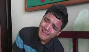 Tumbes: delincuente llora tras ser llevado a comisaría