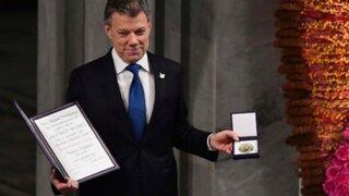 Juan Manuel Santos recibió el premio Nobel de la Paz