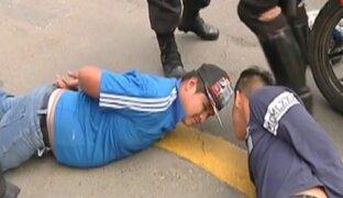 Independencia: policías capturan a delincuentes tras persecución
