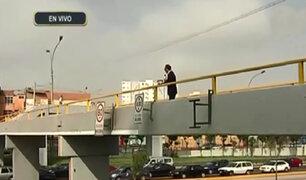 Vía Expresa: reparan puente de Paseo de la República impactado por camión