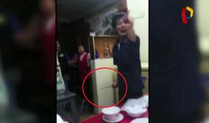 La Victoria: dueño de chifa ataca con machete a fiscalizadores