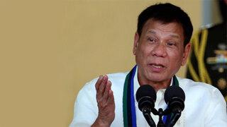 Presidente filipino admite haber asesinado a criminales