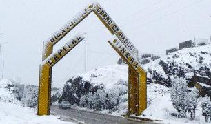Nieve sorprende a los ciudadanos de Cerro de Pasco