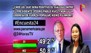 Encuesta 24: 50.8% considera que no será positivo el diálogo entre PPK y Keiko Fujimori