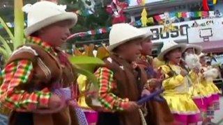 Áncash: niños inician fiestas navideñas con tradicional pasacalle en Huari