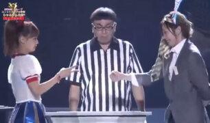 """La competencia de """"Yan Ken Po"""" es toda una sensación en la TV Japonesa"""