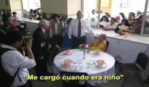 Pedro Pablo Kuczynski se reencontró con mujer que lo cuidó de niño