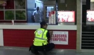 Atocongo: autoridades municipales e Indeci clausuran locales en centro comercial
