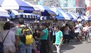 Vuelven las ferias de comida originando caos en las calles de Gamarra