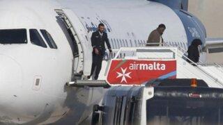 Malta: rehenes de la aerolínea Afriqiyah Airways fueron liberados