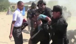 Ica: policía desalojó a más de 150 invasores de terrenos en Subtanjalla