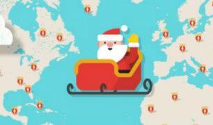 Esta página te muestra en tiempo real el recorrido que está haciendo Santa Claus por Navidad