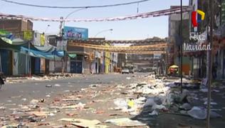 Calles amanecieron llenas de basura en Navidad