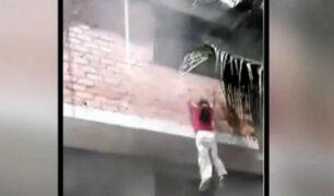 Niña logra salvarse de incendio tras lanzarse de segundo piso