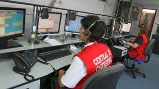 Llamadas malintencionadas a centros de emergencia serán multadas con más de S/ 2 mil