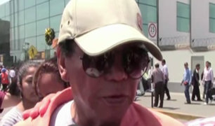 """Melcochita"" a su llegada a Lima: ""Estoy destrozado por dentro"""