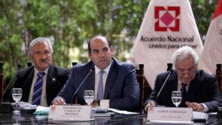 """Premier Fernando Zavala: """"Nos llevamos importantes aportes del Acuerdo Nacional"""""""
