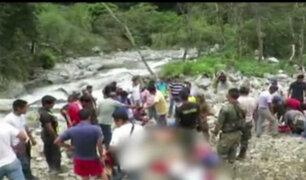 Vraem: camioneta cayó a un abismo con 16 pasajeros a bordo