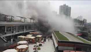 """Larcomar: incendio fue provocado por """"agente externo"""", según PNP"""