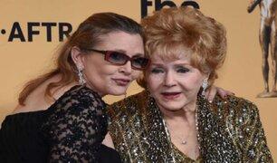 Hollywood conmocionado por muerte de Debbie Reynolds y Carrie Fisher