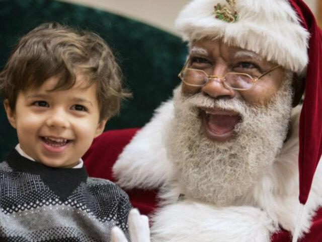 EEUU: Esta fue la vergonzosa ola de racismo que desató en redes sociales el primer Santa Claus negro