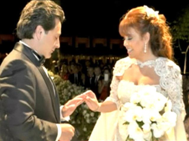 Imágenes exclusivas de la boda de Magaly Medina