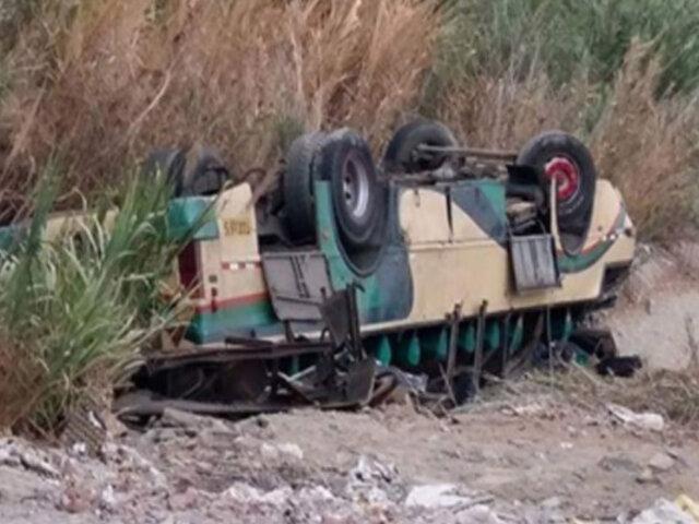 Cañete: escolar muere tras volcadura bus donde viajaban 30 menores